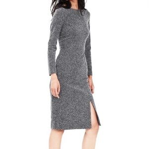 Banana Republic - long sleeve slit dress